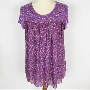 MATILDA JANE Walking on a Cloud Purple Floral Top